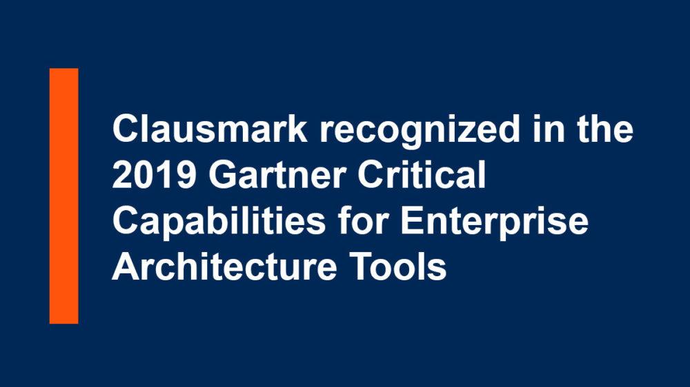 2019 Gartner- Critical Capabilities for Enterprise Architecture Tools
