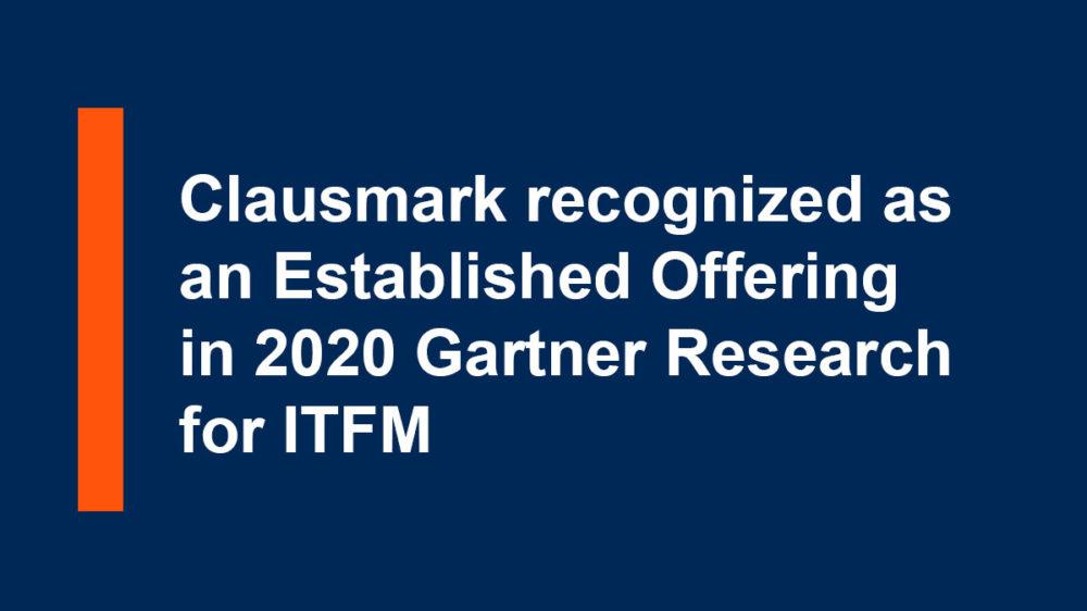 Gartner-Established Offering ITFM