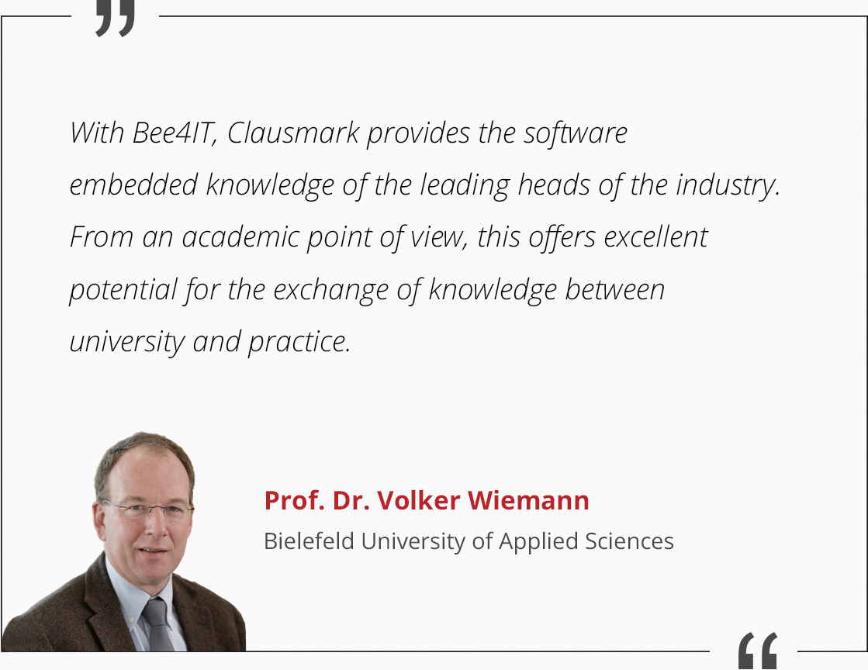 Prof. Dr. Volker Wiemann Reference