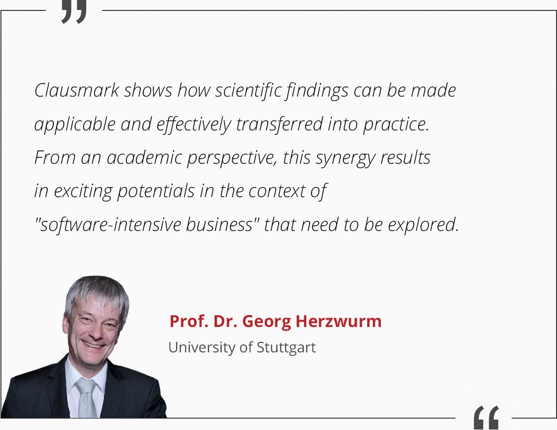 Prof. Dr. Georg Herzwurm Reference
