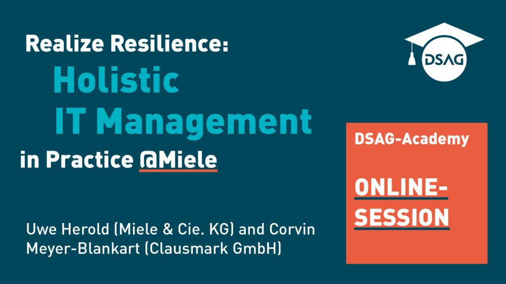 Realize Resilience Header – DSAG Online Session with Uwe Herold & Clausmark